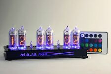 Maja RGB Nixie Clock IN-14  russian Tube black Clock with remote control led