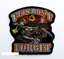 VETS DON'T FORGET POW MIA HAT PATCH US AIR FORCE NAVY ARMY MARINES VIETNAM EAGLE
