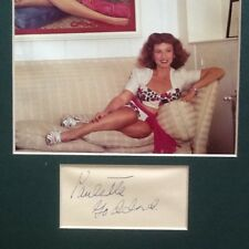 Paulette Goddard SIGNED Paper with Photo Matted 40s Actress Chaplin The Women