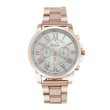 GENEVA Luxury Men Womens Quartz Dial Watch Stainless Steel Analog Wrist Watches