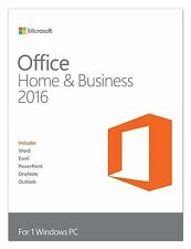 Microsoft Office Home & Business 2016 Word Excel PowerPoint Outlook OneNote 1PC