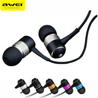 3.5mm In-ear Headset Noise Isolation Earphone Braid Wired Stereo Bass