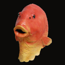 Funny Fish Latex Full Head Mask Party Animal Goldfish Mask Fancy Dress Costume