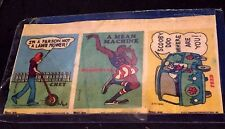 HANNA-BARBERA 1973 Cloth Sticker PROOF STRIP of 3 RARE Scooby Chet Globe Trott
