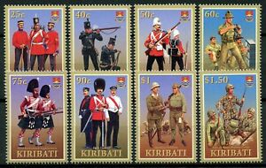 Kiribati Stamps 2007 MNH Military Uniforms US Marine Corps Irish Guards 8v Set