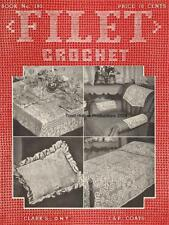 1943 Coats and Clark Book # 193 Filet Crochet on CD