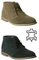 KIDS BOYS SUEDE LEATHER 2 EYELET CLASSIC ANKLE HI-TOP CASUAL DESERT BOOTS SHOE
