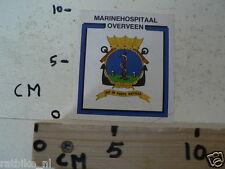 STICKER,DECAL KONINKLIJKE MARINE MARINEHOSPITAAL OVERVEEN  NOT 100 % OK