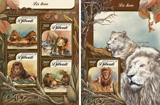 Djibouti Lions Wild Cats Animals Fauna MNH stamp set