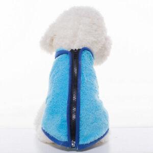 Winter Warm Fleece Small Pet Dog Jacket Vest Clothes Zip Puppy Cat Coat Costumes