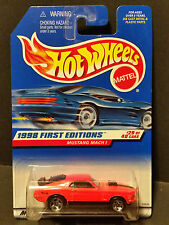 1998 Hot Wheels #670 1998 First Editions 29/40 - Mustang Mach 1 - Orange - 18539