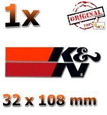 K&N Schwarz Black Noir 32x108mm Aufkleber Sticker Autocollant Étiquet KN K und N