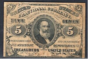 3rd Issue 5¢ Fractional Currency Note FR1238 - Decent Fine