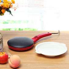 Electric Crepe Maker Non Stick Baking Pancake Grill Plate Dessert Machine
