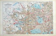 LONDON - ( NORTH WEST) - Original Antique Map / City Plan - BACON, 1912