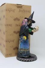 Jim Shore Halloween - Full Moon Fright - Witch Holding Skull 4014028