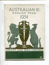 Australian XI English Tour 1934  Orient Line RMS Orford