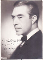 Victor Francen Autographe Original Vintage 1934