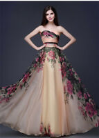 Women's Ladies Long Chiffon Bridesmaid Evening Formal Party Ball Gown Prom Dress