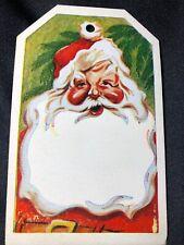 1940s Antique Santa Claus Card Ornament Art Christmas Saint Nicholas Holiday