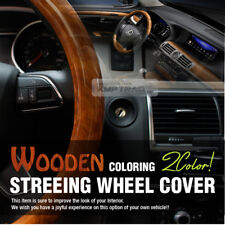 Car Steering Wheel Cover Premium Wood Syn Wood Grain 2Color 1ea for All Car