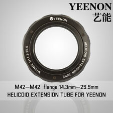 【YEENON】M42 to M42 x 14.3mm Focusing Helicoid Macro Extension Tube