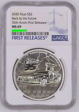 2020 Niue S$2 Back to the Future 35th Anniv-First Releases®︎ Blue Label