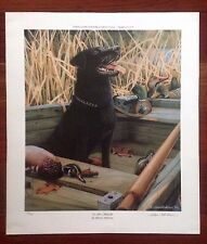 SHARON ANDERSON  SIGNED LITHOGRAPH 177/350 ON ALERT- BLACK LAB WILDLIFE PRINT