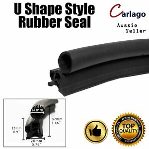Vehicle Edge Seal Trim Rubber With Bulb Door Protection Pinchweld Metal Clip 4M