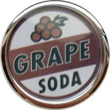 GRAPE SODA UP PARODY DISNEY CHROME SILVER COLOUR EDGE BUTTON BADGE