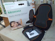 MEDISANA SHIATSU MASSAGE SEAT COVER,MK82L,4 ROTATING HEATED HEADS,REMOTE,BOXED