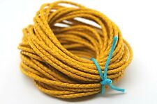 10 yards 30 feet 3Mm Yellow Braided Bolo Leather Lace Cord Roll Spool