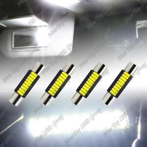 4x White LED Sun Visor Vanity Mirror Lights Bulbs 6612F 6614F 6641 29mm