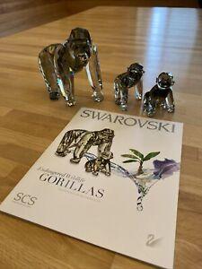 SWAROVSKI GORILLAS WIE NEU ❤️ VITRINE