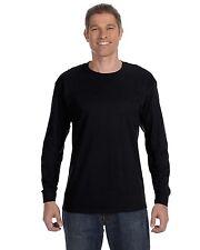 Hanes Mens Cotton Long Sleeve T Shirt Tagless Tee S M L XL 2XL 3XL 5586