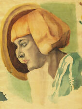 Portrait of Marina Tsvetaeva : Boris Chaliapin : Archival Quality Art Print