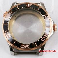 41mm black ceramic bezel sapphire glass Watch Case fit ETA 2824 2836 MOVEMENT