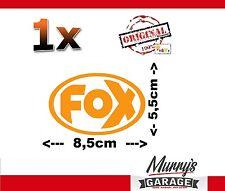 ORIG escape deportivo Fox logotipo adhesivo naranja, sticker. decal, autocollant 55x85mm