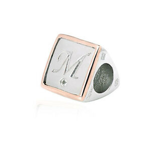 NEW Welsh Clogau Silver & Rose Gold Letter M Milestones Bead Charm £75 OFF!