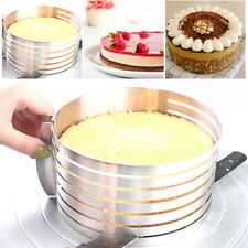 New Stainless Steel Layer Cake Slicer Kit Mousse Slicing Cake Setting Ring Round