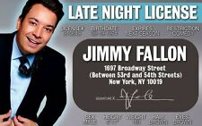 Jimmy Fallon plastic ID card Drivers License star of THE Late Show