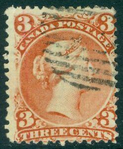 EDW1949SELL : CANADA 1868 Scott #33 Laid paper. Scarce stamp PSAG Cert Cat