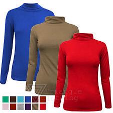 Hip Length Polo Neck Stretch Tops & Shirts for Women