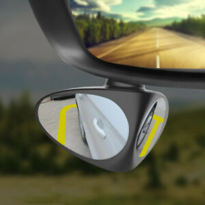 2 in 1 Car SUV Blind Spot Mirror Wide Angle 360 Rotation Convex Tool Accessories