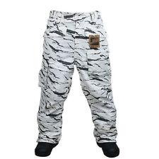 South play Premium Mens Waterproof White Camo Military Ski-Snowboard Pants