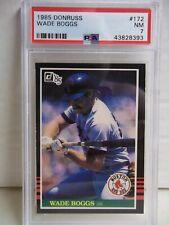 1985 Donruss Wade Boggs PSA NM 7 Baseball Card #172 MLB HOF