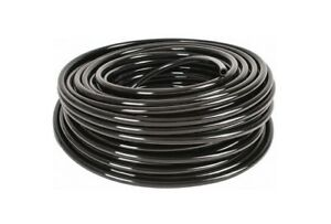 "100ft 1/4"" 6mm OD SOFT Black Vinyl Drip Tubing Use W/ Bay Hydro Top Hat Grommets"