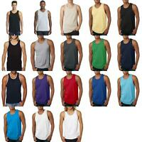 cc50da78661de1 Next Level Men s Soft Self Fabric Jersey Tank Solid Tank Top S-2XL ...