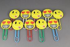 2 emoji giant paper clips emoji planner clip big huge smiley face heart eye wink