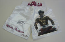 Manny Pacquiao SIGNED AUTOGRAPH Ltd Ed Boxing Trunks 76/100 AFTAL UACC